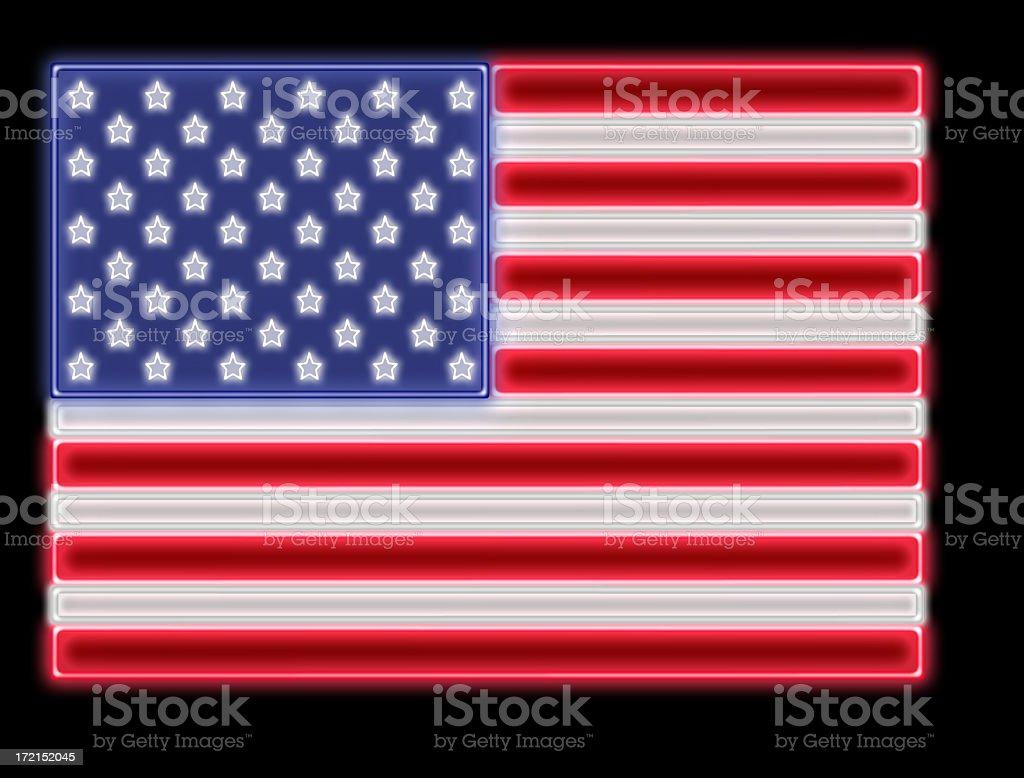 US Neon Flag royalty-free stock photo