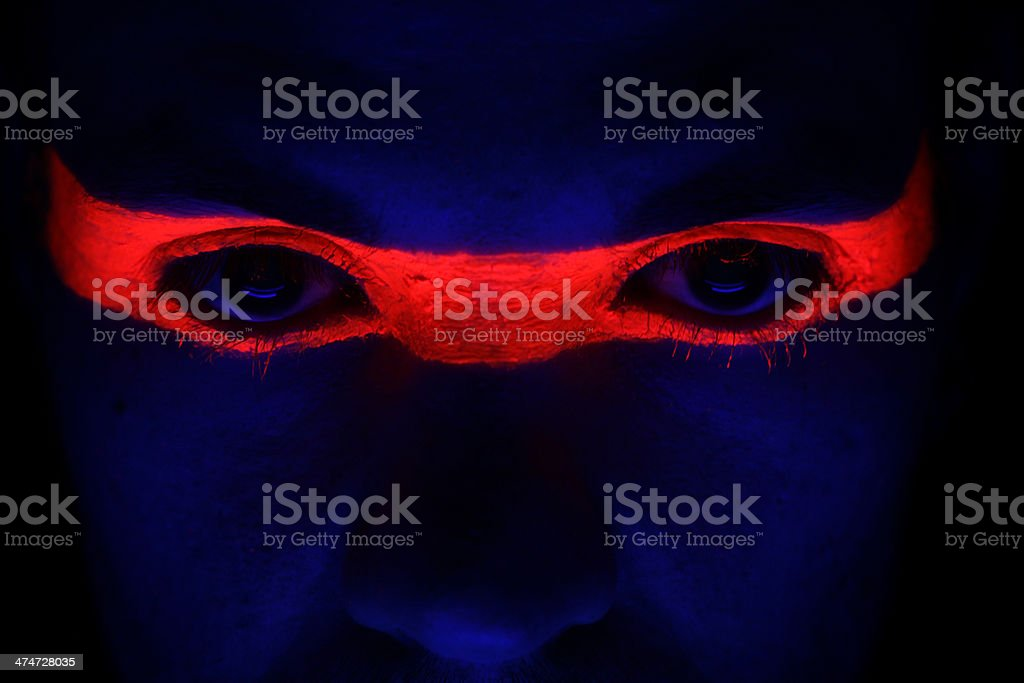 Neon Glow Eyes royalty-free stock photo