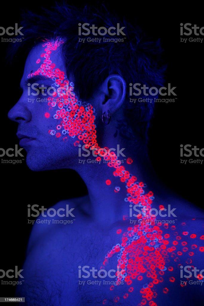 Neon Glow Portrait stock photo