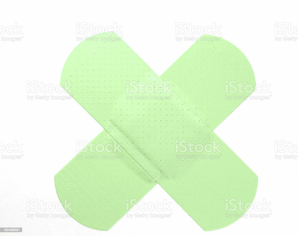 Neon Green Bandaid royalty-free stock photo