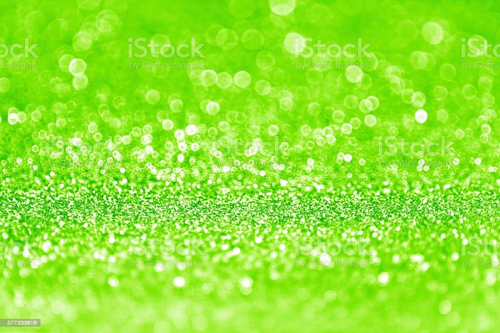 Neon Green Glitter Background stock photo