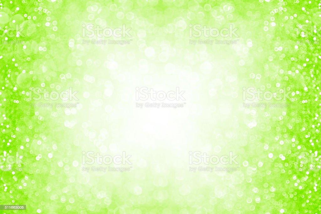 Neon Green Glitter Sparkle Background stock photo
