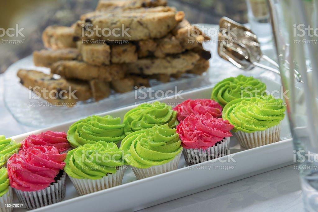 Neon Green & Hot Pink Cupcakes stock photo