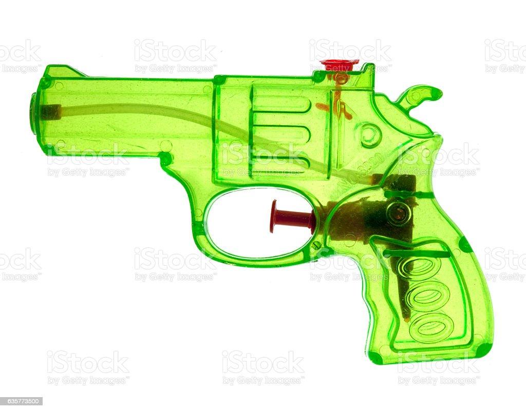 Neon Green Toy Pistol stock photo