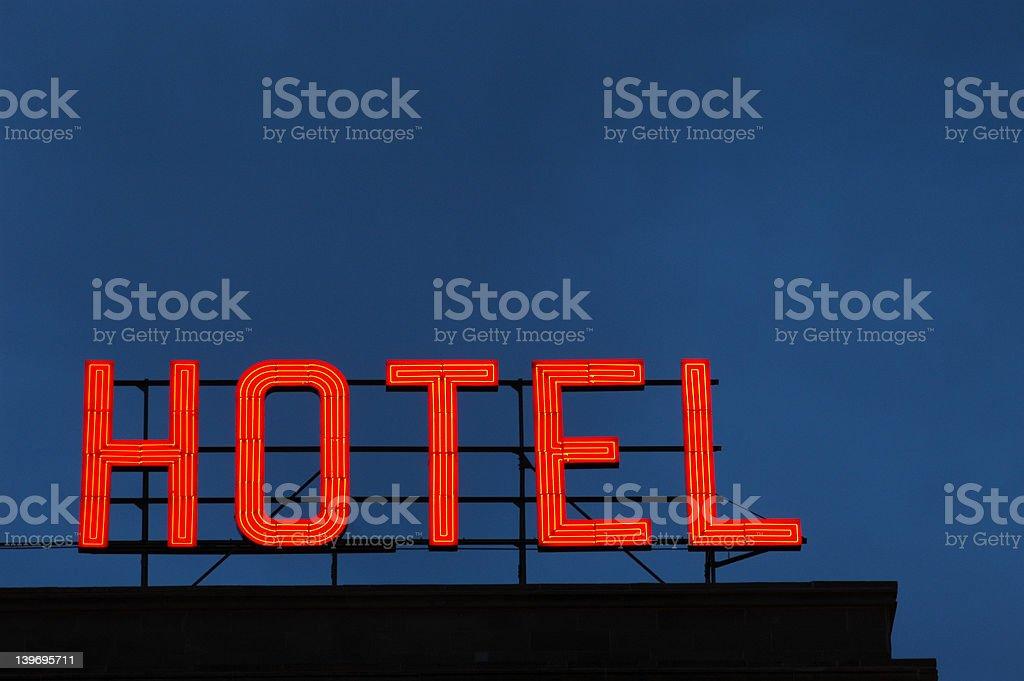 Neon Hotel Sign stock photo