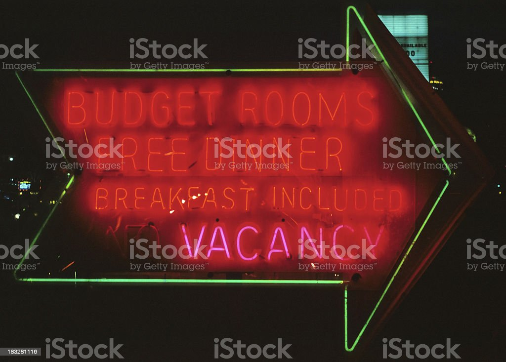 Neon Hotel Sign royalty-free stock photo