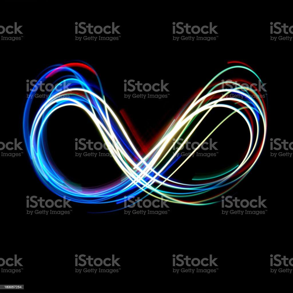 Neon Infinity stock photo