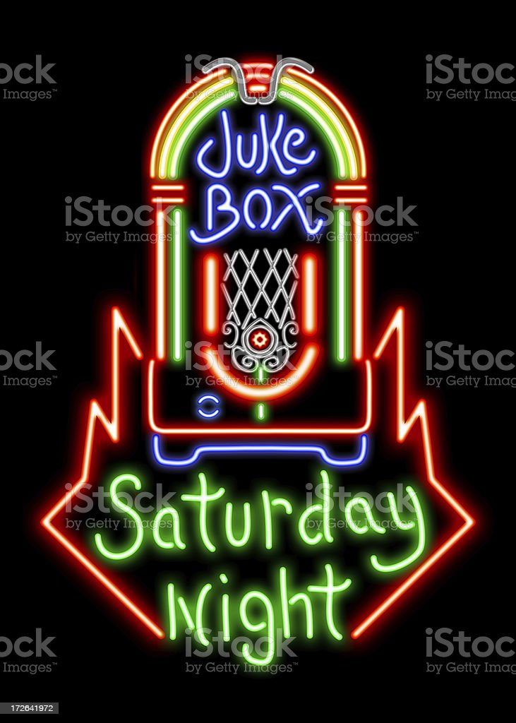 Neon Juke Box royalty-free stock photo