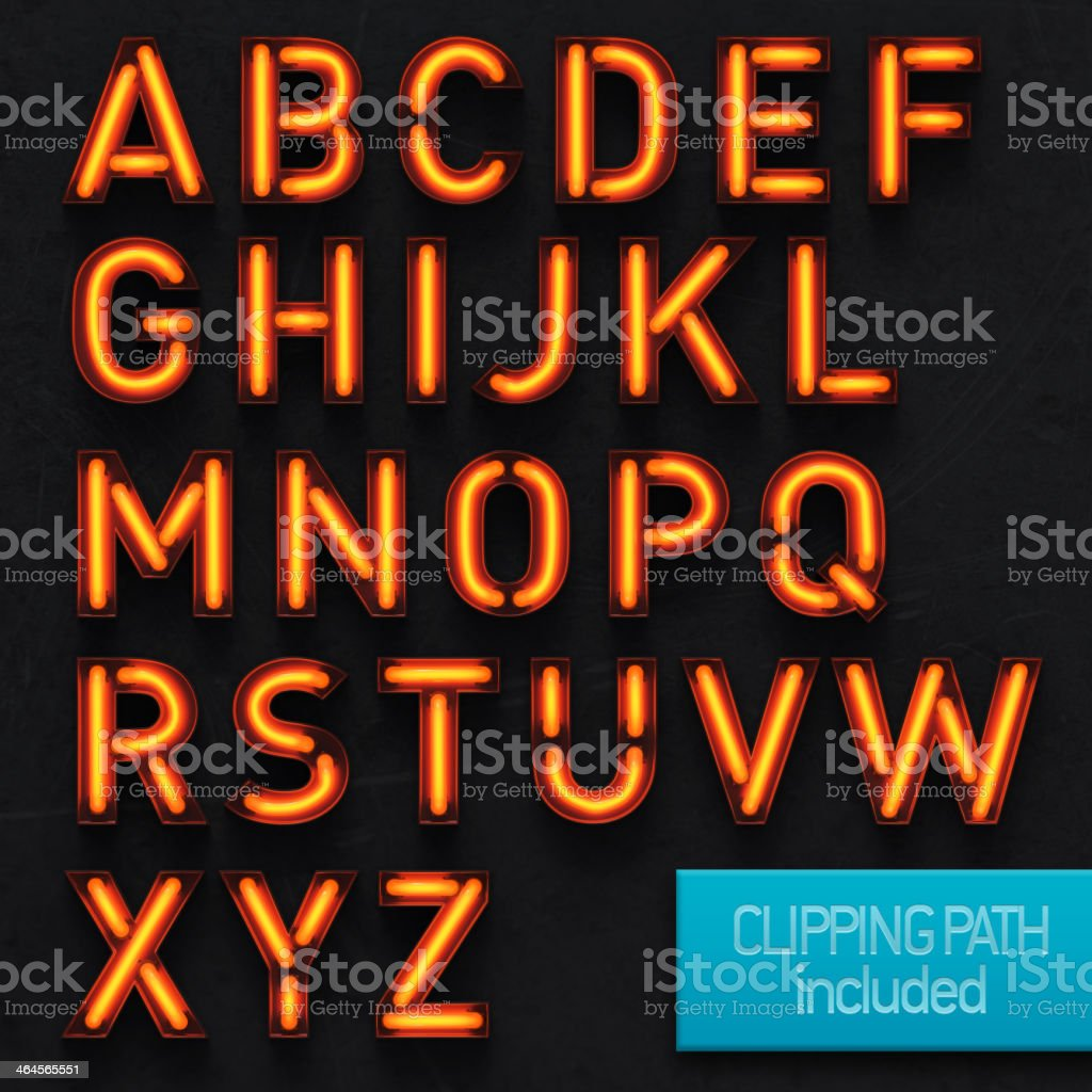 Neon Letters stock photo