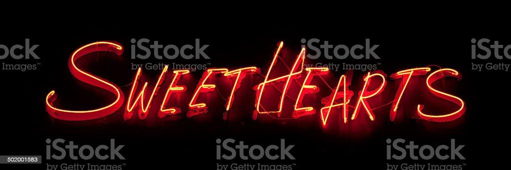 Neon: mit süßen Herzchen – Foto