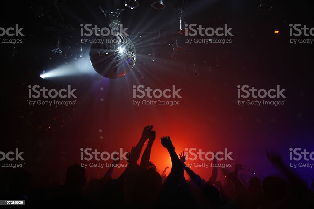 Neon lights in a disco on a Friday night royalty-free stock photo