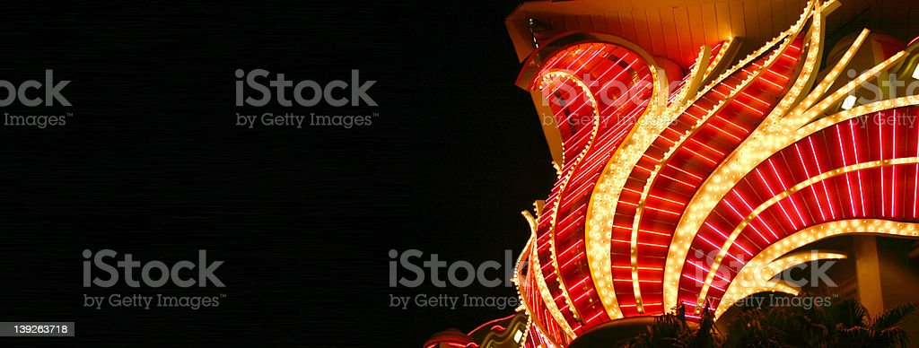 Neon lights in Vegas royalty-free stock photo