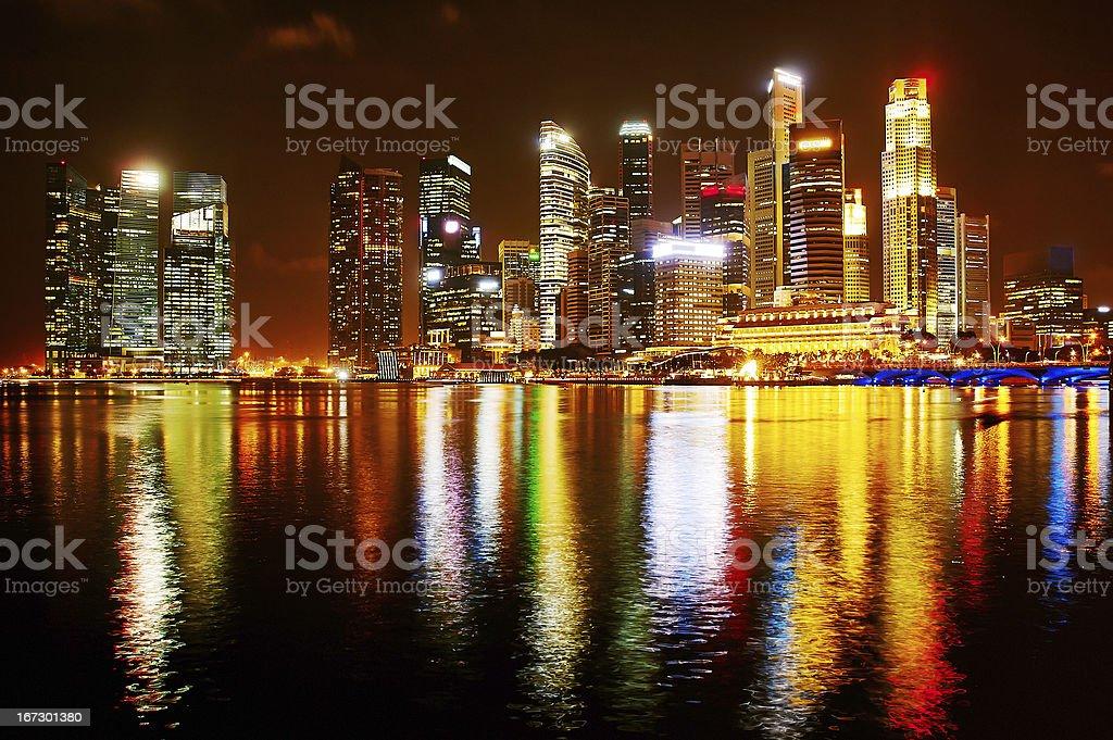 Neon lights of Singapore royalty-free stock photo