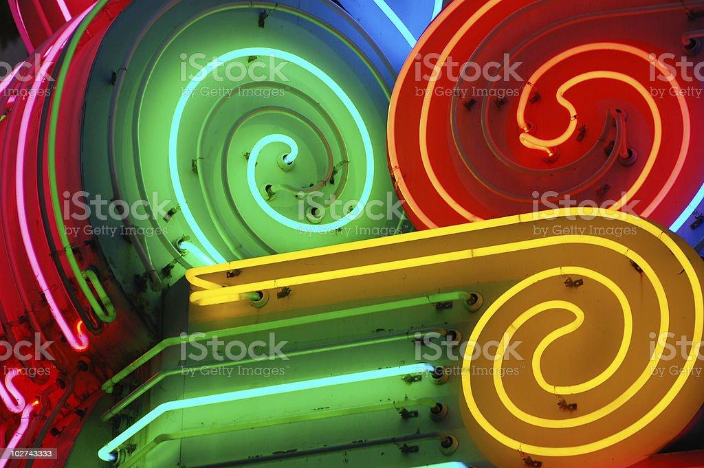 Neon Lights stock photo