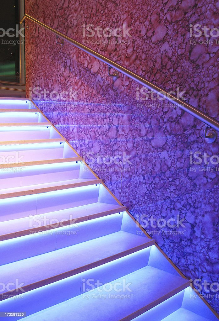 Neon Lit Staircase royalty-free stock photo