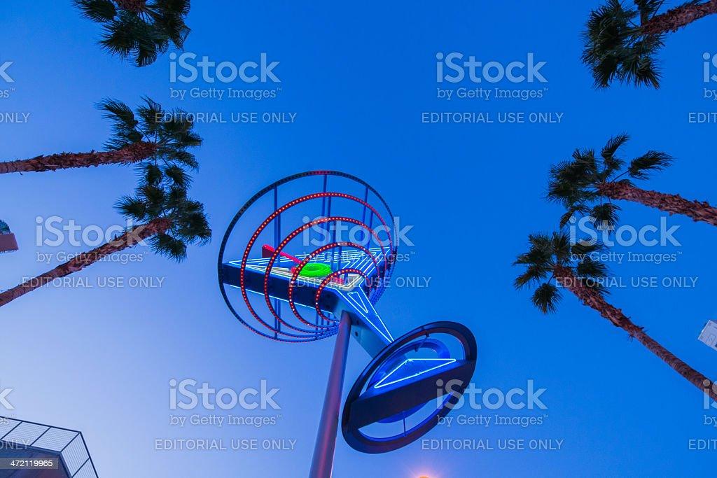 Neon Martini Glass in Las Vegas stock photo