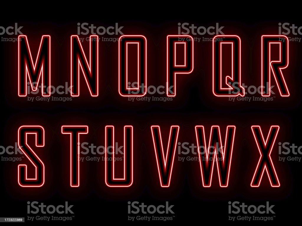 Neon M-X stock photo