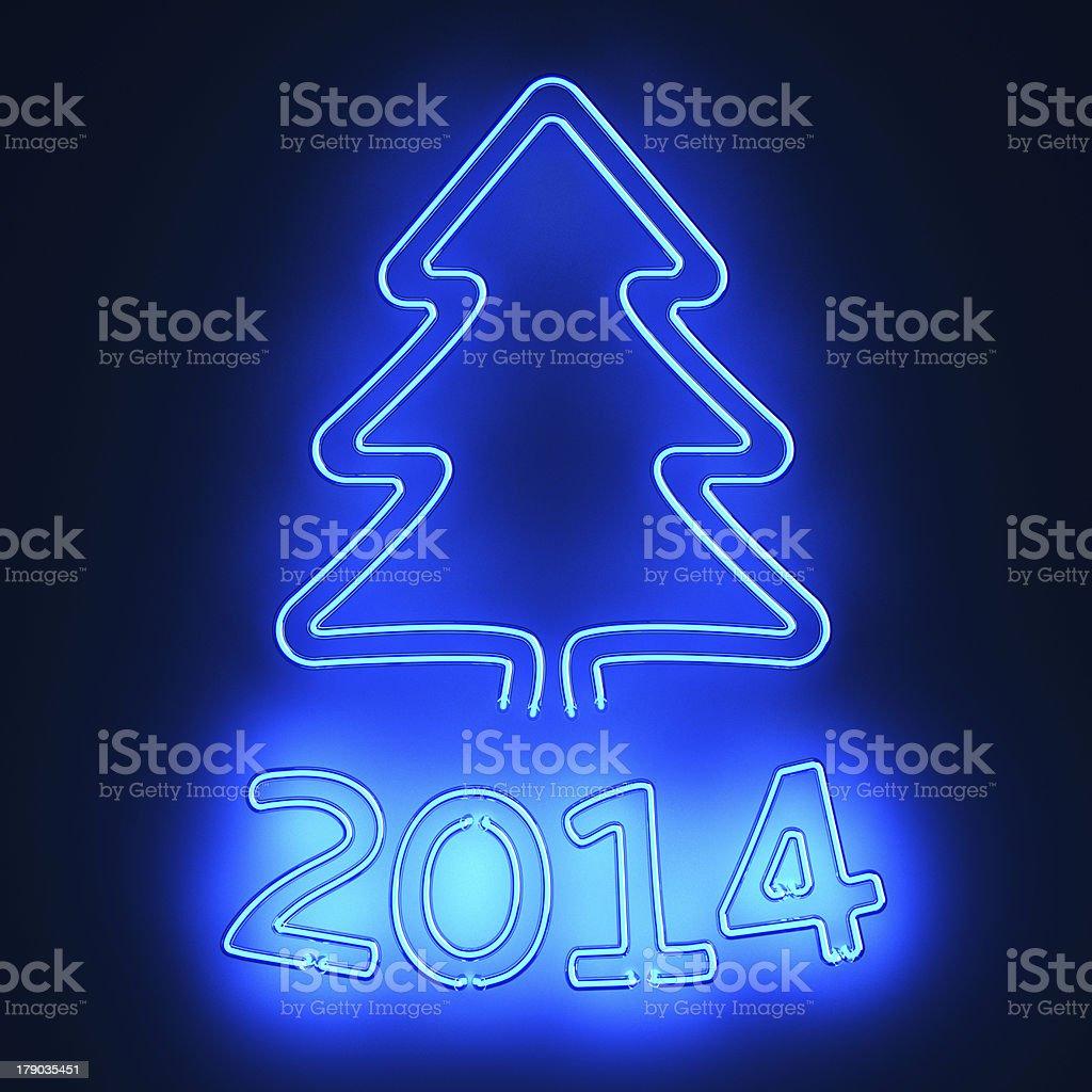 Neon New Year royalty-free stock photo
