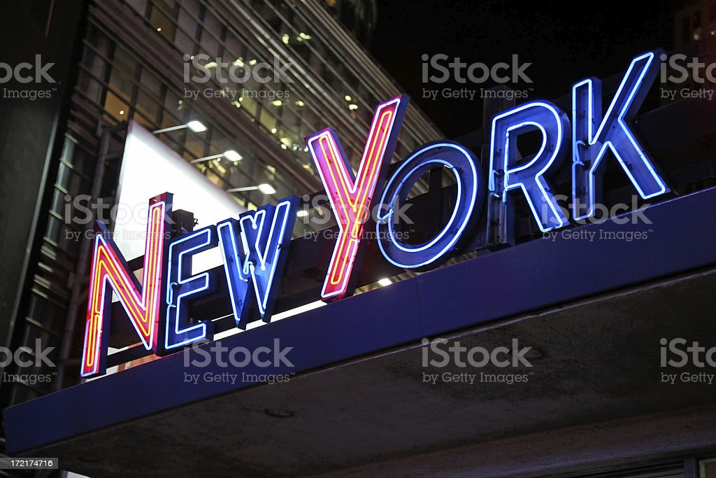 Neon New York Sign royalty-free stock photo