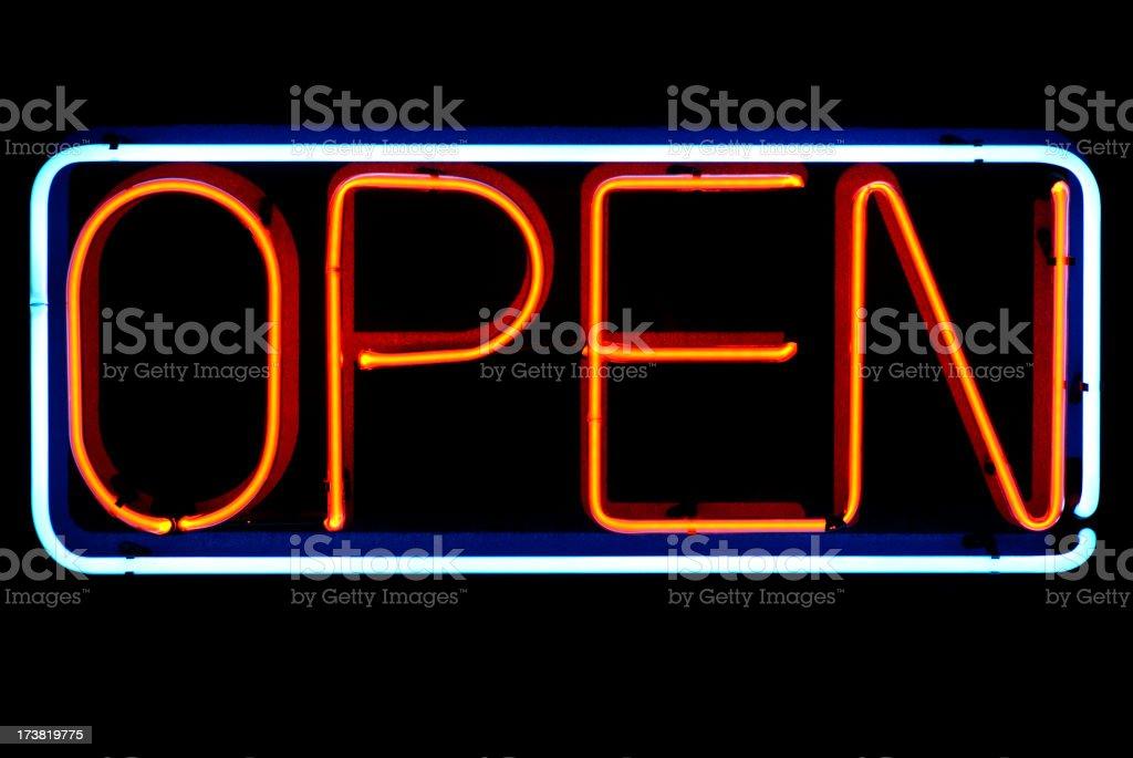 Neon Open royalty-free stock photo