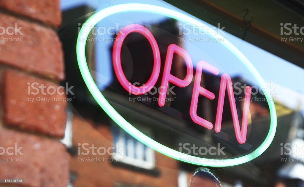 neon open sign royalty-free stock photo