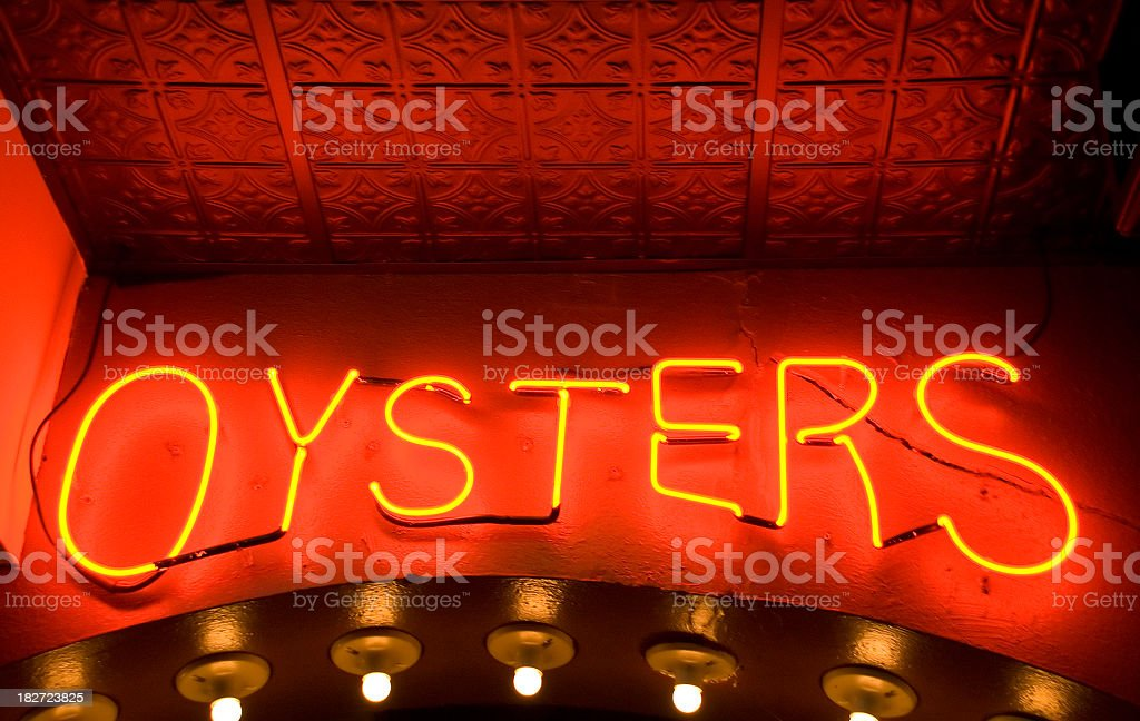 Neon Oysters royalty-free stock photo