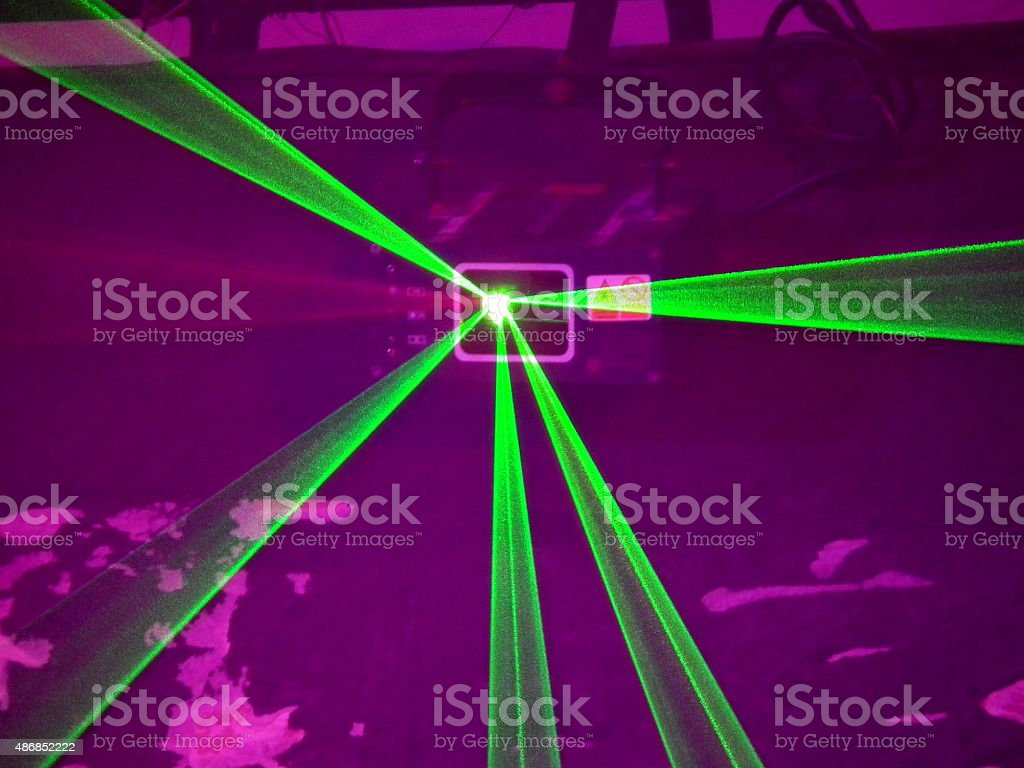 Neon Party Lights stock photo