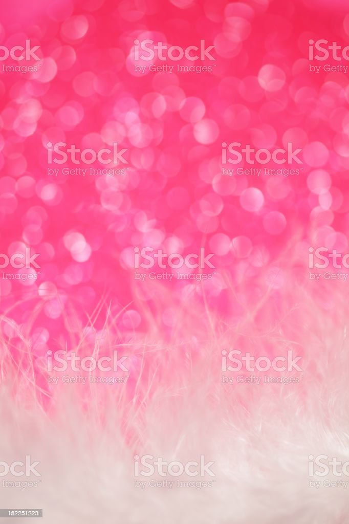 Neon Pink Sparkles and Feather Background stock photo