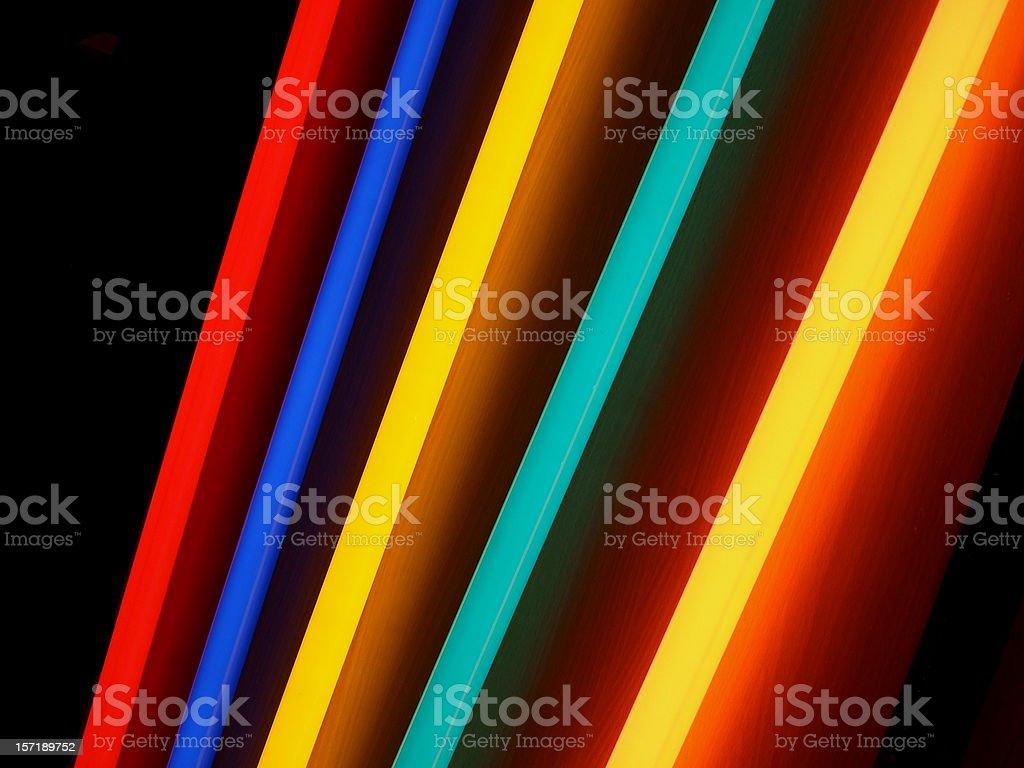 neon rainbow lights stock photo
