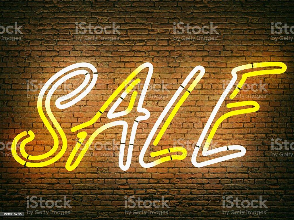 Neon Sale stock photo