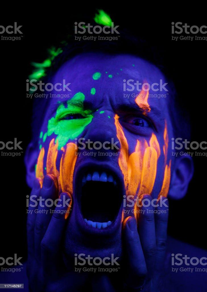 Neon Scream royalty-free stock photo