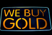 Neon Sign Advertising 'We Buy Gold'