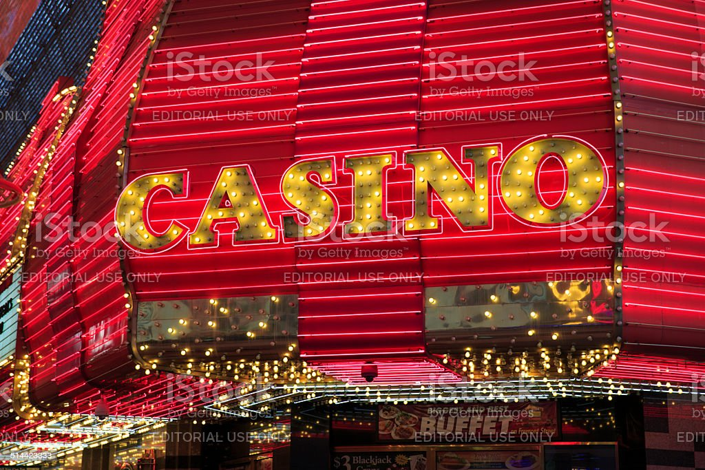 Neon Sign at Fremont Street in Las Vegas stock photo