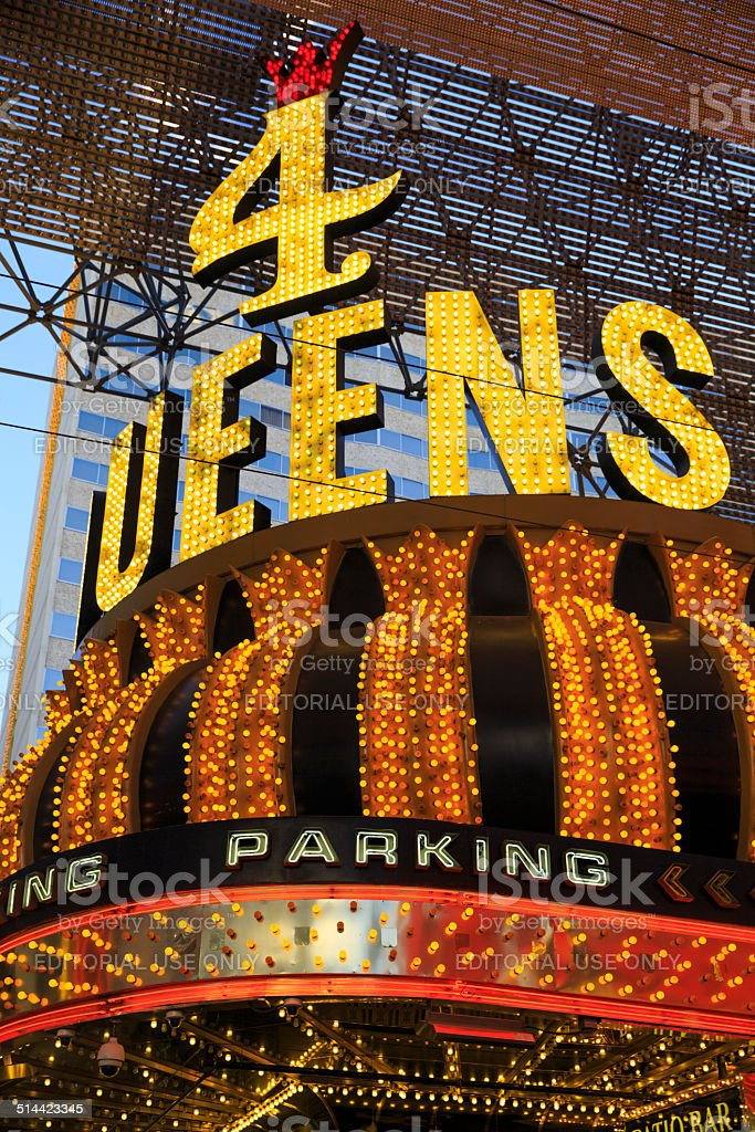 Neon Sign in Fremont Street stock photo