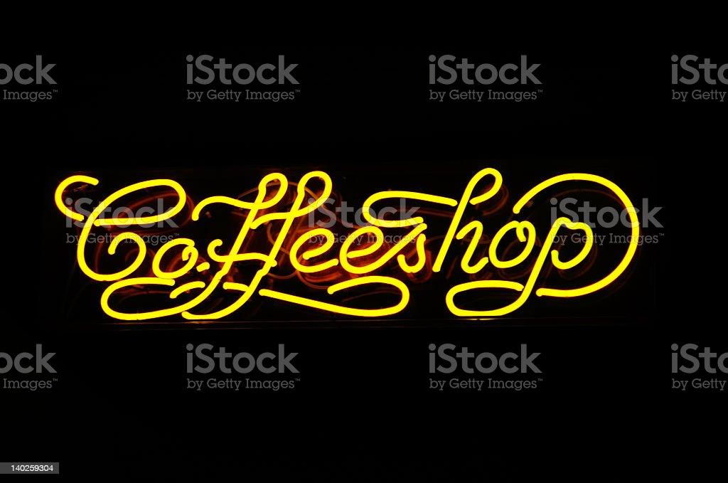 neon sign of a coffeshop royalty-free stock photo