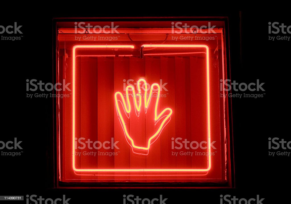 neon sign stock photo