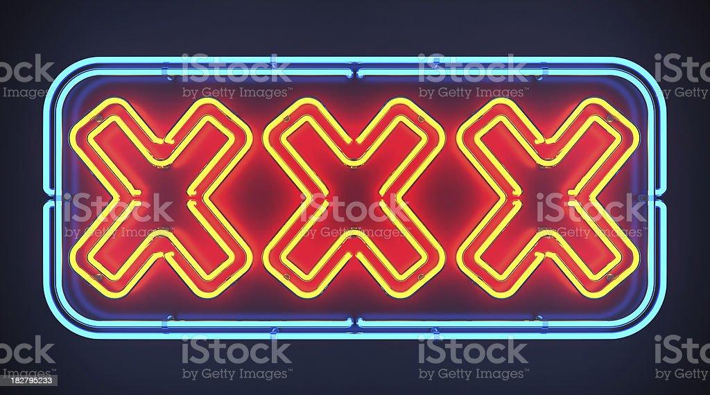 XXX Neon Sign stock photo
