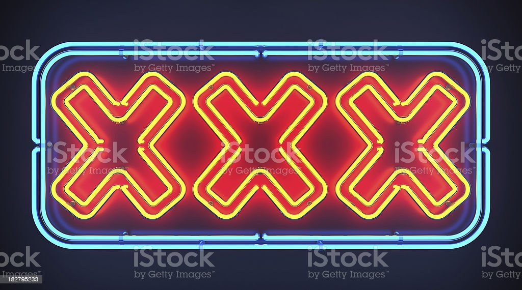 XXX Neon Sign stock photo