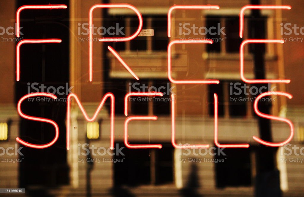 Neon Sign Smell Perfume royalty-free stock photo