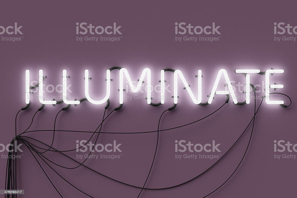 Neon Sign-Illuminate stock photo