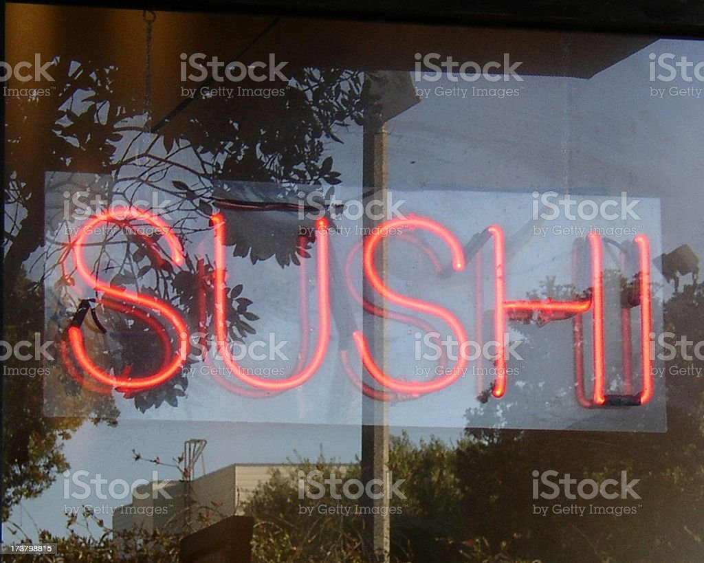 neon sushi royalty-free stock photo