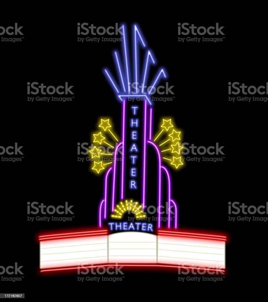 Neon theater stock photo