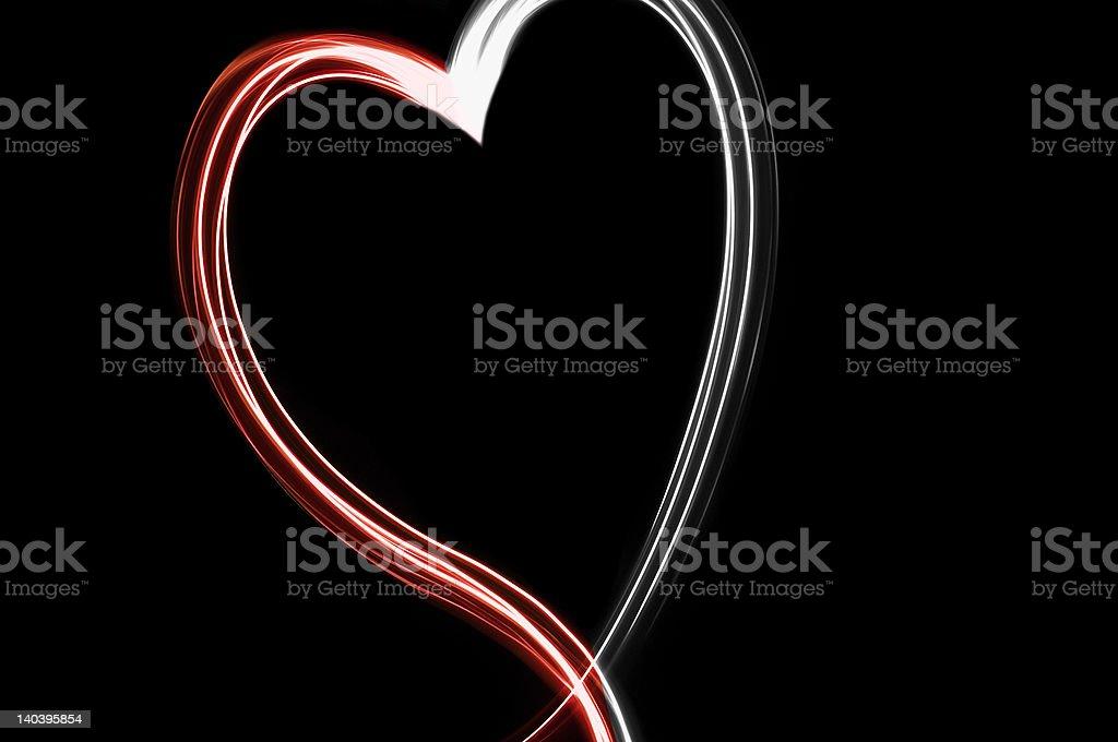 Neon thread heart royalty-free stock photo