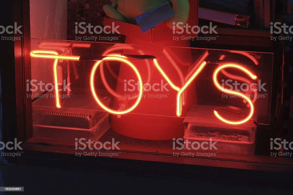 Neon Toy Sign stock photo