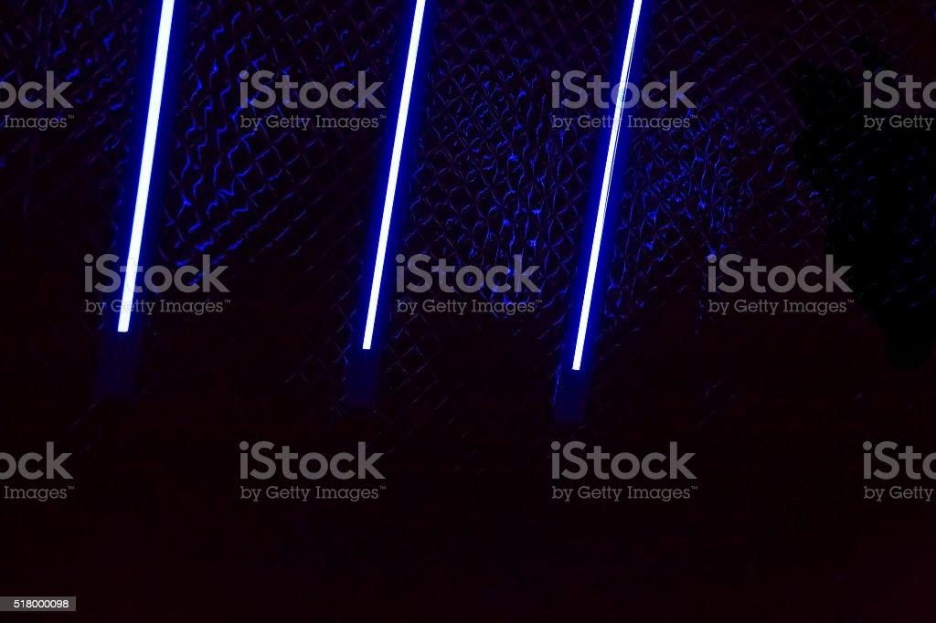 Neon tube light night stock photo