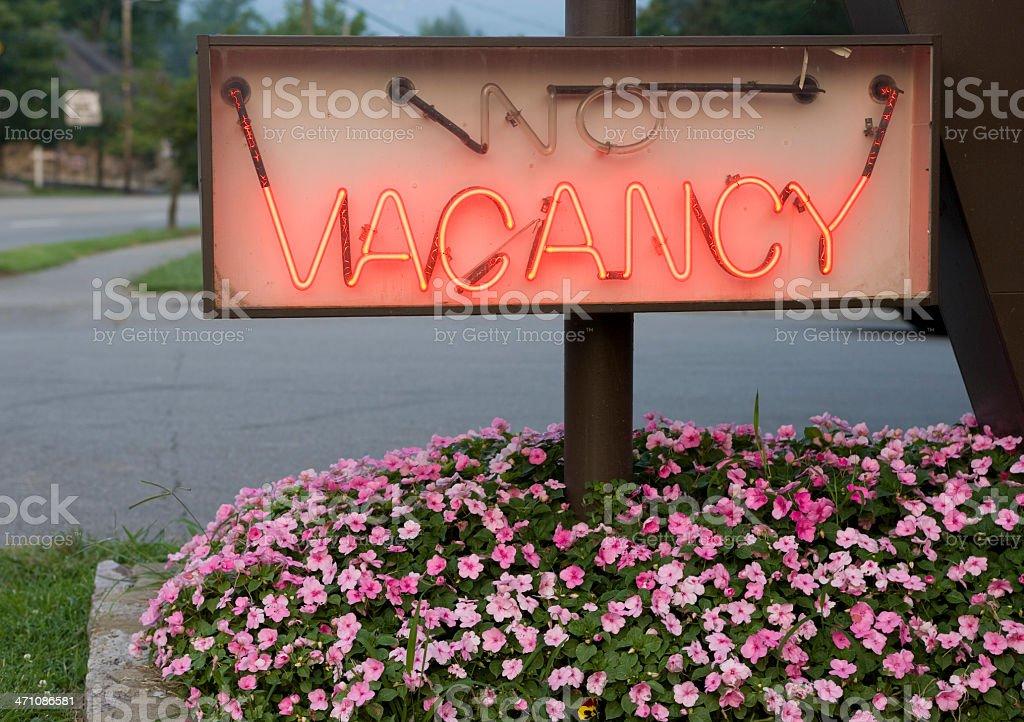 Neon vacancy stock photo