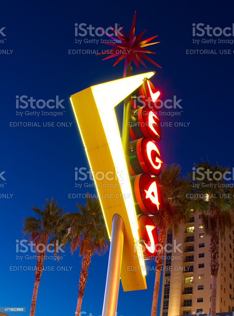 Neon Vegas Sign stock photo