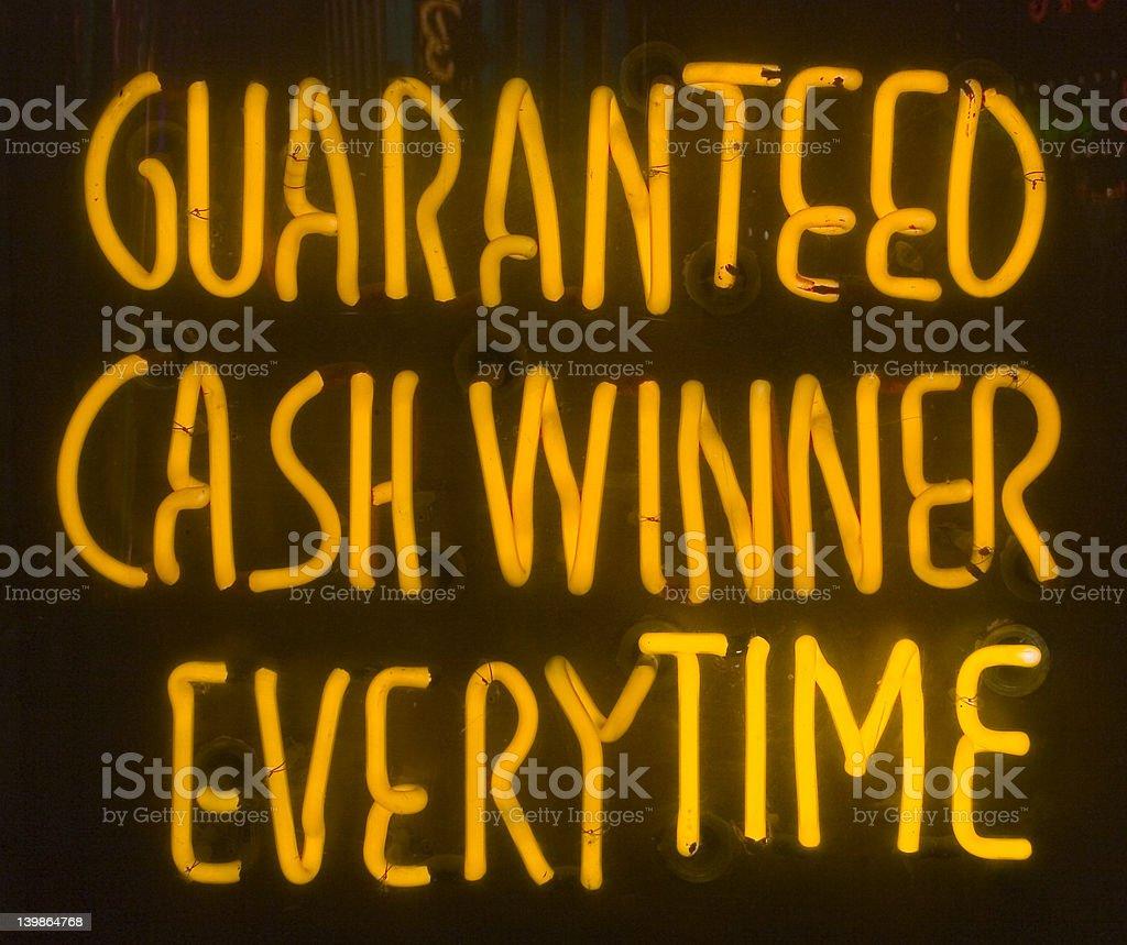 Neon Winner Sign royalty-free stock photo