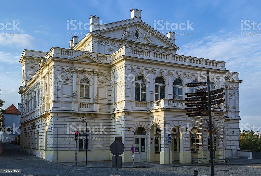 Neo-renaissance building, Tabor, Czech republic stock photo
