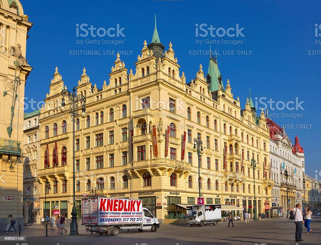 Neo-Renaissance style building on Pepublic Square in Prague, Czech Republic stock photo